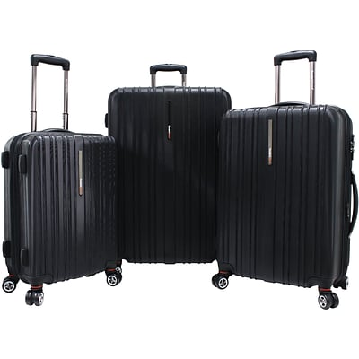 Travelers Choice® TC5000 Tasmania 3-Piece Expandable Spinner Luggage Set, Black