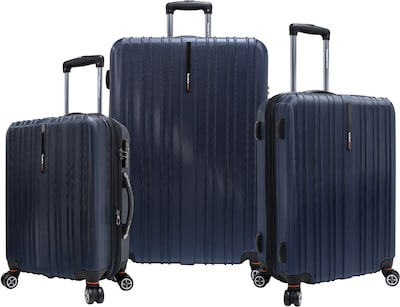 Traveler's Choice® TC5000 Tasmania 3-Piece Expandable Spinner Luggage Set, Navy