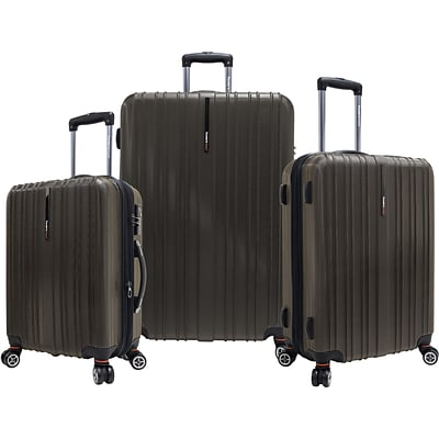 Travelers Choice® TC5000 Tasmania 3-Piece Expandable Spinner Luggage Set, Dark Brown