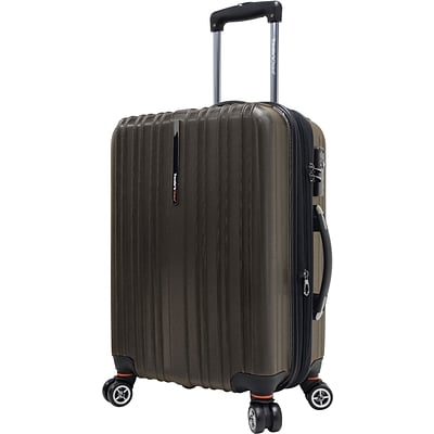 Travelers Choice® TC5000 Tasmania 21 Expandable Spinner Luggage Suitcase, Dark Brown