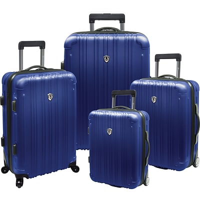Travelers Choice® TC5800 New Luxembourg 4-Piece Expandable Hard-sided Luggage Set, Blue