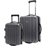 Travelers Choice® TC5802 New Luxembourg 2-Piece Carry-On Hardsided Luggage Set, Titanium