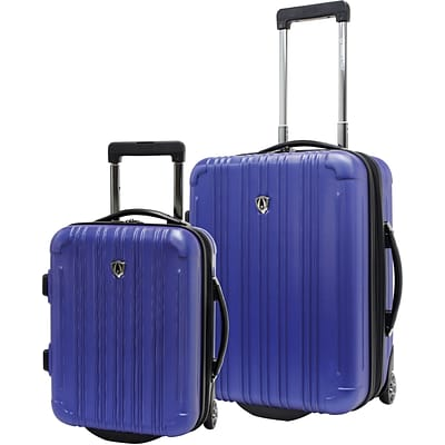 Travelers Choice® TC5802 New Luxembourg 2-Piece Carry-On Hardsided Luggage Set, Blue
