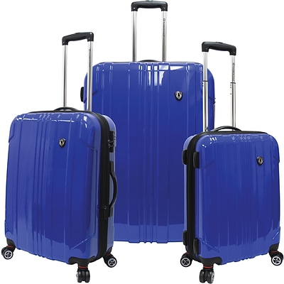 Travelers Choice® TC8000 Sedona 3-Piece Expandable Spinner Luggage Set, Blue