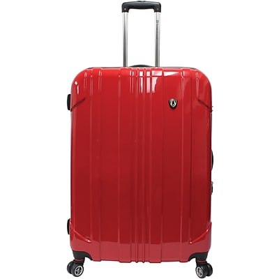 Travelers Choice® TC8000 Sedona 29 Expandable Spinner Luggage Suitcase, Red