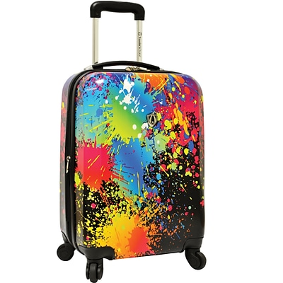Travelers Choice® TC8200 Midway 29 Hardside Spinner Luggage Suitcase, Paint Splatter Print