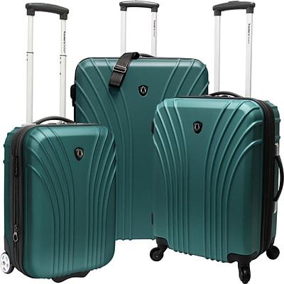 Travelers Choice® TC8500 Cape Verde 3-Piece Hardsided Ultra Lightweight Luggage Set, Green