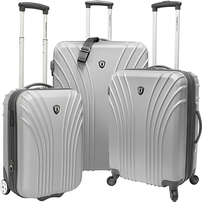 Travelers Choice® TC8500 Cape Verde 3-Piece Hardsided Ultra Lightweight Luggage Set, Silver