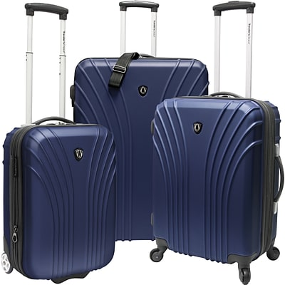 Travelers Choice® TC8500 Cape Verde 3-Piece Hardsided Ultra Lightweight Luggage Set, Navy