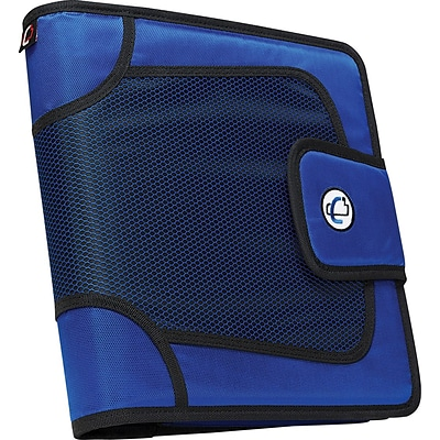 Case•it S-816 2 Blue Binder with Built-in Expandable File