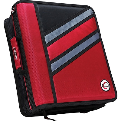 Case-it The Z 1.5-Inch D 3-Ring Zipper Binder, Red (Z-176-Red)
