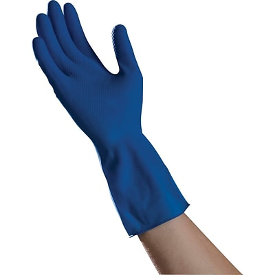 Ambitex® Canners Work Gloves, Latex, Medium, Blue, 144/CT