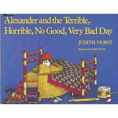 Favorite Character Books, Alexander and the Terrible, Horrible, No Good,Very Bad Day