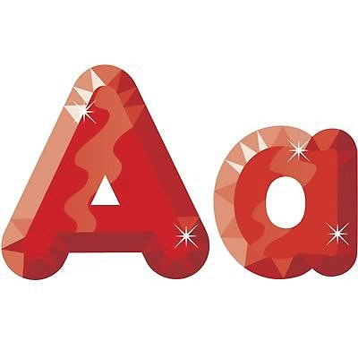 Trend® 4 Ready Letters®, Casual Combo Packs, Red Gems