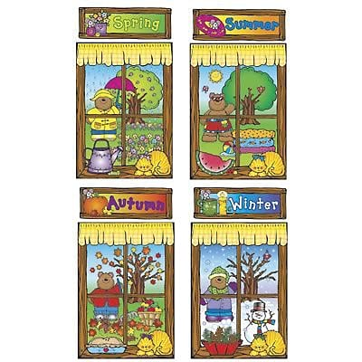 DJ Inkers Bulletin Board Sets, Four Seasons Windows