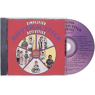 Kimbo Dance & Fitness CDs, Simplified Rhythm Stick Activities