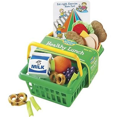 Learning Resources® Pretend Food, Pretend & Play®, Healthy Lunch Set