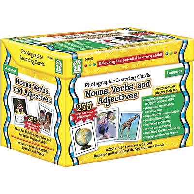 Key Education Photographic Language Development Cards, Nouns, Verbs & Adjectives