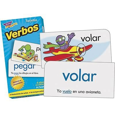 Trend® ESL & ELL Resources, Skill Drill Flash Cards, Verbs, Spanish Action Words