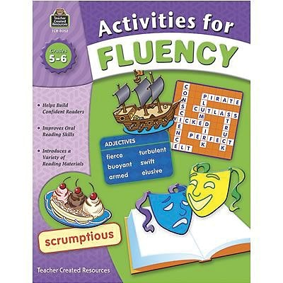 Teacher Created Resources Activities for Fluency Books, Grade 5-6