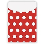 Peel & Stick Red Polka Dots Pockets