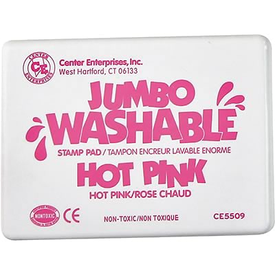 Washable Stamp Pads, Center Enterprises Hot Pink, Jumbo