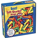 Lauri® Toys Tall Stacker™ 100 Pieces Pegs