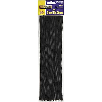 Chenille Kraft® Chenille Stems, Black