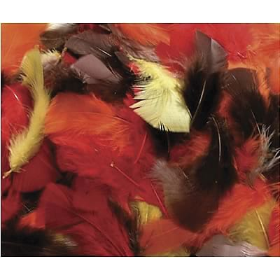 Chenille Kraft® Feathers, Fall Colors