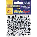 Chenille Kraft® 100pcs Black Wiggle Eyes