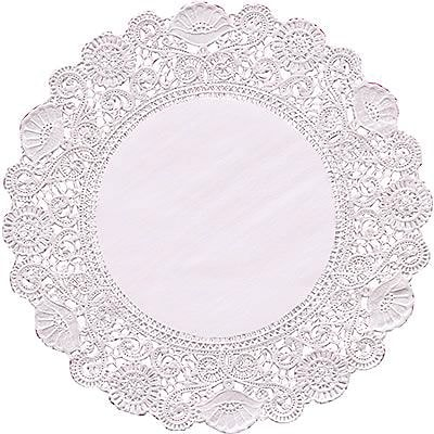 Hygloss® Round Paper Lace Doilies, 4, Pre-school - 12 (HYG10041)