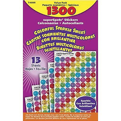 Trend® superSpots® Sparkle Smiles Chart Seals, Value Pack