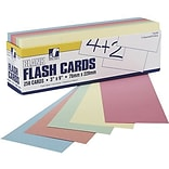 Pacon® Assorted Colors Blank Flash Cards