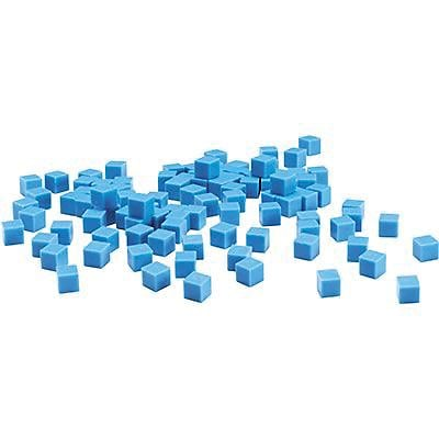 Base Ten & Place Value, Learning Resources® Plastic Base Ten Components, 100 Blue Units