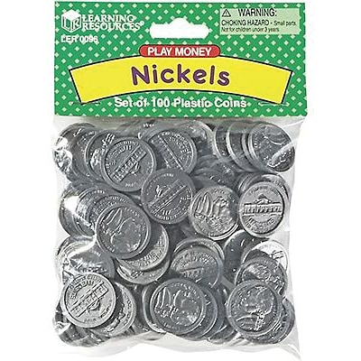 Money, Learning Resources® Nickles Pack of 100