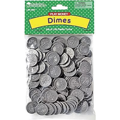 Money, Learning Resources® Dimes Pack of 100