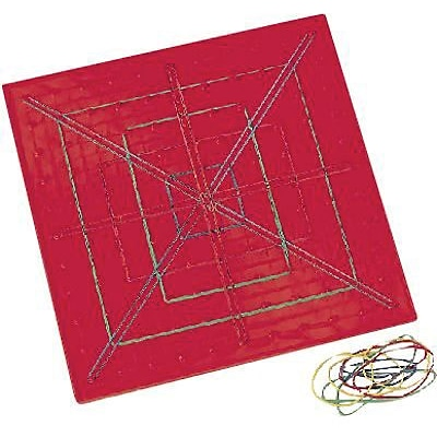 Learning Resources® 11x11 Pin 9 Plastic Geoboards