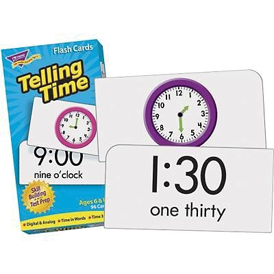 Flash Cards, Trend® Skill Drill, Telling Time