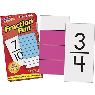Flash Cards, Trend® Skill Drill, Fraction Fun