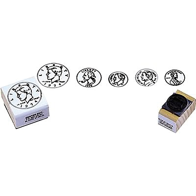 Money, Center Enterprises Coin Rubber Stamp Set, Heads