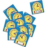 Time, Learning Resources® Write and Wipe Student Clocks, Set of 10