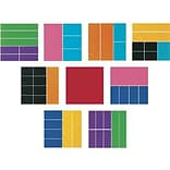 Fractions, Decimals & Percents, Learning Resources® Deluxe Rainbow Fraction Squares, 51/Set