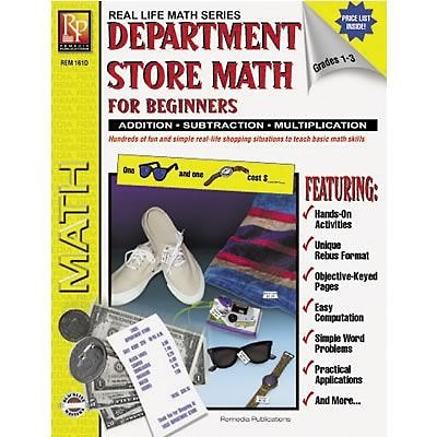 Real World Math, Remedia Department Store Math for Beginners