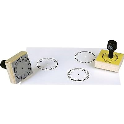 Time, Center Enterprises 3-Clock Stamp Set