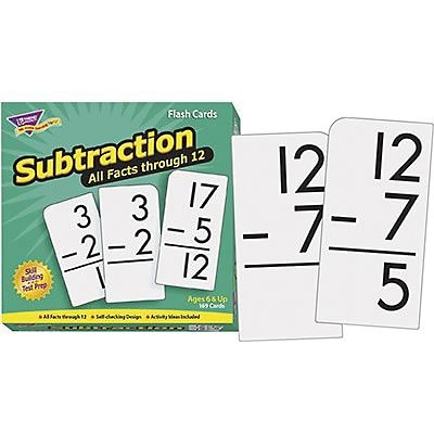 Flash Cards, Trend® Subtraction 0-12, All Facts, Skill Drill Flash Cards