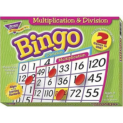 Bingo Games, Trend® Multiplication & Division, 2-Sided