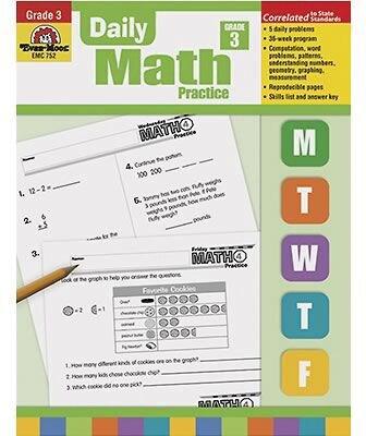 Evan-Moor® Daily Math Practice, Grade 3 Quill.com