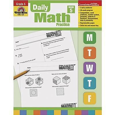 Evan-Moor® Daily Math Practice, Grade 5