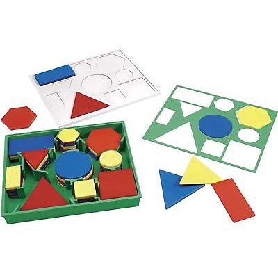 Tangrams & Pentominoes, Learning Resources® Attribute Block Set