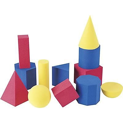 Learning Resources® Soft Foam Geometric Shapes, Set of 12